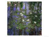 Blue Waterlilies, 1916-1919 Giclée-tryk af Claude Monet