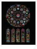The Second Coming of Christ; Rose Window from the South Transept of Chartres Cathedral Giclee Print