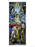 The Baptism of Jesus Christ, 1597/1600 Lámina giclée por  El Greco