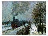 Train in the Snow, 1875 Giclée-Druck von Claude Monet