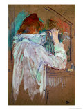 Woman Curling Her Hair Giclee Print by Henri de Toulouse-Lautrec