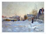 Snow in Argenteuil, 1875 Giclée-Druck von Claude Monet