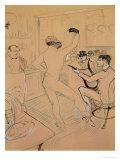 Chocolate Dancing in Achille's Bar, Drawing, 1894 Lámina giclée por Henri de Toulouse-Lautrec