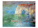 Etretat, the Cliff, Reflections on Water; 1885 Giclée-Druck von Claude Monet