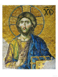 Christ, from the Deesis in the North Gallery, Byzantine Mosaic, 12th Century Giclée-tryk