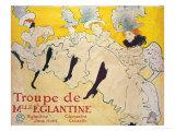La Troupe De Mlle. Eglantine Lámina giclée por Henri de Toulouse-Lautrec