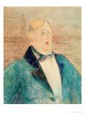 Oscar Wilde, 1895 Giclee Print by Henri de Toulouse-Lautrec