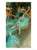 Green Dancer, ca. 1880 Giclee-trykk av Edgar Degas