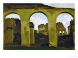 The Colosseum, Seen Across the Arcades of the Basilica Saint Constantine, Rome Giclee Print by Jean-Baptiste-Camille Corot