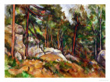 The Rocks in the Park of the Chateau Noir, 1898-1899 Giclée-tryk af Paul Cézanne