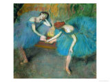 Two Dancers Resting, or Two Dancers in Blue, 1898 Giclee Print by Edgar Degas