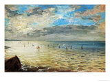 The Sea Seen from Dieppe, Ca Giclée-tryk af Eugene Delacroix