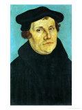 Portrait of Martin Luther, 1529 Lámina giclée por Lucas Cranach the Elder