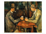 The Card Players, 1890-95 Giclee Print by Paul Cézanne