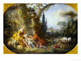 The Delights of Life in the Country Giclée-tryk af Francois Boucher
