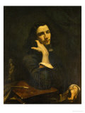 The Man with the Leather Belt, Self-Portrait, 1846 Giclee Print by Gustave Courbet