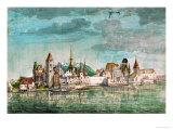 Innsbruck Seen Across the River Inn, 1495 Reproduction procédé giclée par Albrecht Dürer