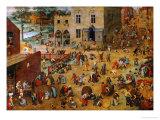Children's Games, 1560 Reproduction procédé giclée par Pieter Bruegel the Elder