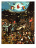 Last Judgment, Central Panel of Triptych Gicléetryck av Hieronymus Bosch