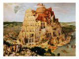 The Tower of Babel, 1563 Giclée-tryk af Pieter Bruegel the Elder