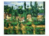 Le Château de Medan, 1879-1881 Reproduction procédé giclée par Paul Cézanne