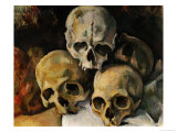 A Pyramid of Skulls, 1898-1900 Reproduction procédé giclée par Paul Cézanne