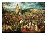 Jesus Carrying the Cross, or the Way to Calvary, 1564 Reproduction procédé giclée par Pieter Bruegel the Elder