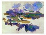 The Mont Sainte-Victoire, Seen from Lauves, 1905 Giclée-tryk af Paul Cézanne