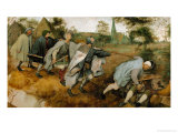 The Blind Leading the Blind, 1568 Giclee Print by Pieter Bruegel the Elder