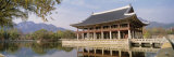 South Korea, Seoul, Kyongheru, View of Traditional Architecture on a Lake Photographic Print