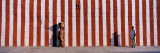 Two People Standing Outside a Temple, Tamil Nadu, India Fotografisk trykk av Panoramic Images,