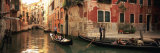 Tourists in a Gondola, Venice, Italy Photographic Print