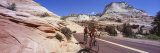 Two People Cycling on the Road, Zion National Park, Utah, USA Fotografisk trykk av Panoramic Images,