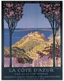Cote d'Azur Cap Ferrat Reproduction procédé giclée par George Dorival