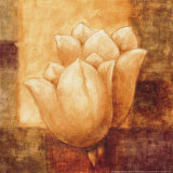 Two Tulips I Print by Herve Libaud