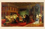 Le Cardinal Mazarin Mourant, 1830 Poster par Paul Delaroche