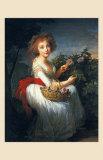 Portrait de Marie Christine de Bourbon, 1790 Affiche par Elisabeth Louise Vigee-LeBrun