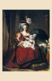 Marie-Antoinette et Ses Enfants, 1787 Affiches par Elisabeth Louise Vigee-LeBrun