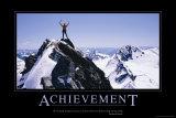 Prestatie, Achievement, tekst in het Engels Affiches