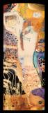 Vattenormar I, ca 1907 Planscher av Gustav Klimt