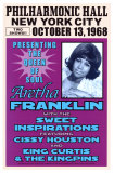 Aretha Franklin, NYC, 1968 Poster