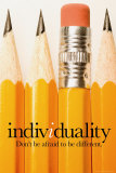 Individualité, en anglais Posters