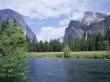 Bridalveil Falls (620 Feet) and the Merced River, Yosemite National Park, California USA Photographic Print by David Kjaer