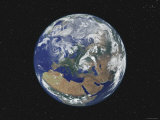 Earth Centered on Europe 写真プリント : ストックトレック・イメージ(Stocktrek Images)