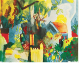 Landscape Stretched Canvas Print by Auguste Macke