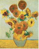Fifteen Sunflowers Stretched Canvas Print by Vincent van Gogh