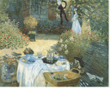 The Luncheon Stretched Canvas Print by Claude Monet