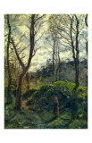 Landscape with Big Trees Affiches par Camille Pissarro