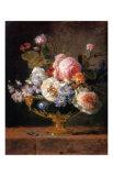 Fleurs dans un Vase de Porceleine Bleue, c.1780 Posters av Anne Vallayer-coster