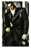 Tadeusz Lempicki, c.1928 Plakat av Tamara de Lempicka